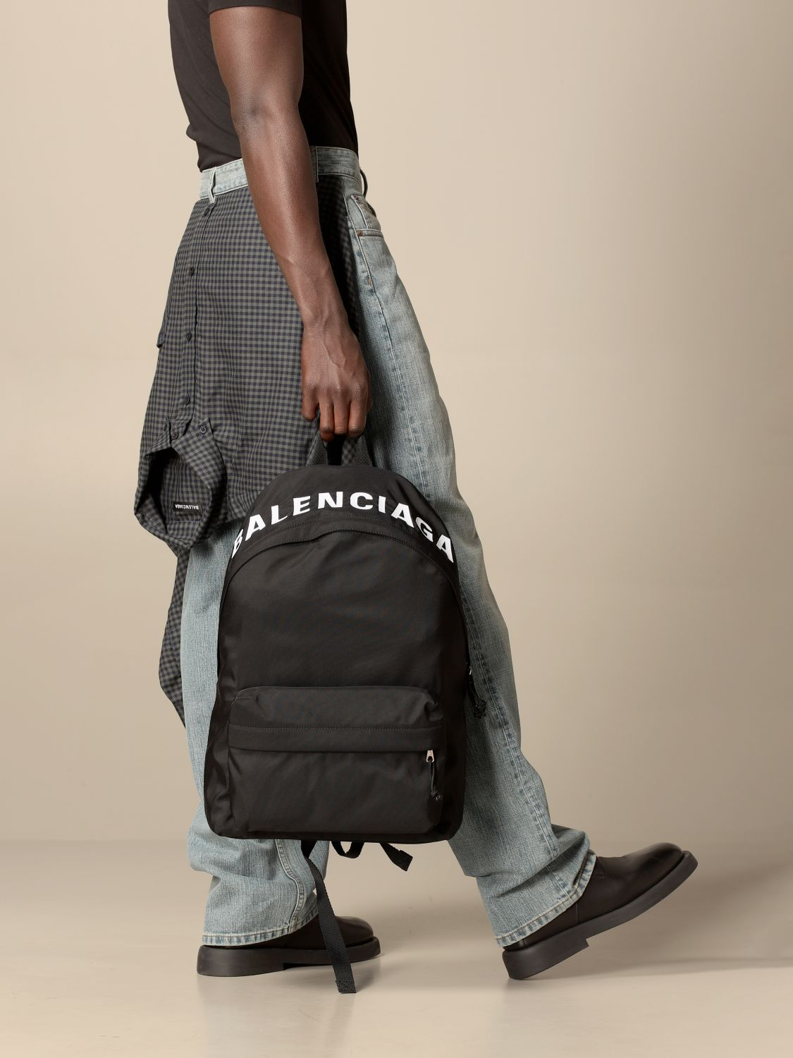 Shoulder bag Balenciaga: Balenciaga nylon backpack black 2