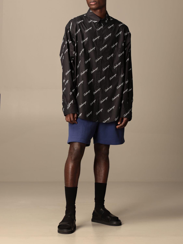 Shirt Balenciaga: Balenciaga shirt with all over logo black 2