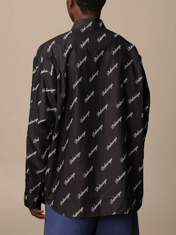Shirt Balenciaga: Balenciaga shirt with all over logo black 3