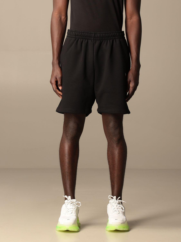 Short Balenciaga: Balenciaga cotton jogging shorts with logo black 1