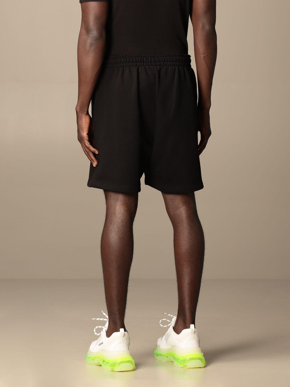 Short Balenciaga: Balenciaga cotton jogging shorts with logo black 3