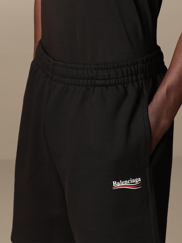 Short Balenciaga: Balenciaga cotton jogging shorts with logo black 5