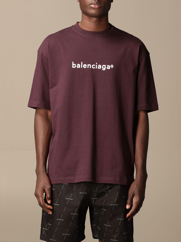 T-shirt Balenciaga: Balenciaga cotton t-shirt with logo violet 1