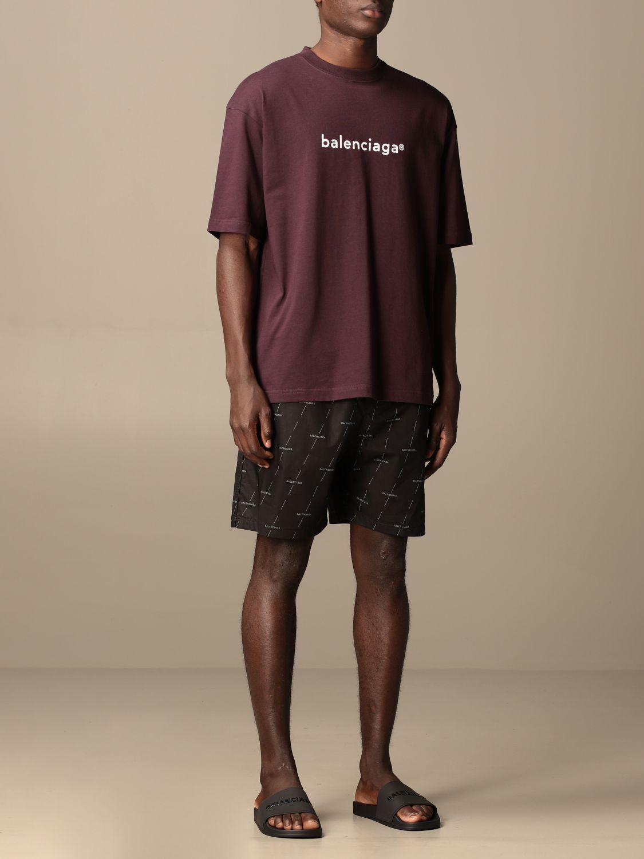 T-shirt Balenciaga: Balenciaga cotton t-shirt with logo violet 2