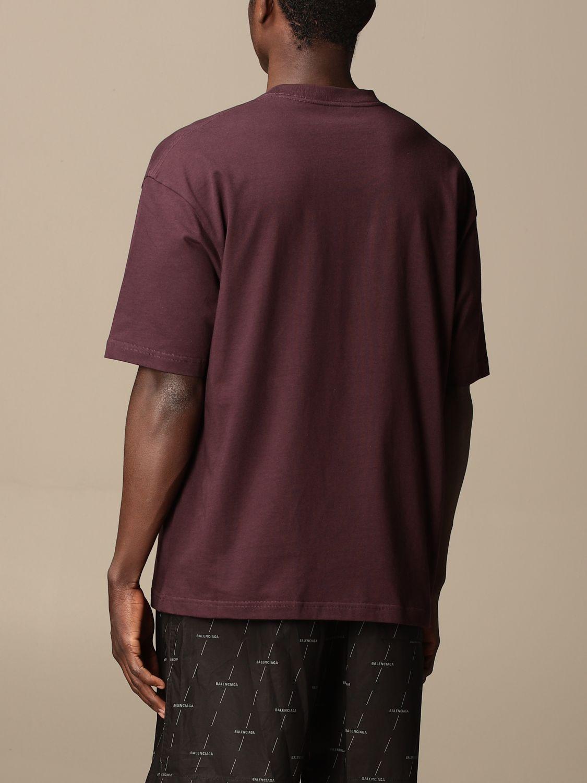 T-shirt Balenciaga: Balenciaga cotton t-shirt with logo violet 3