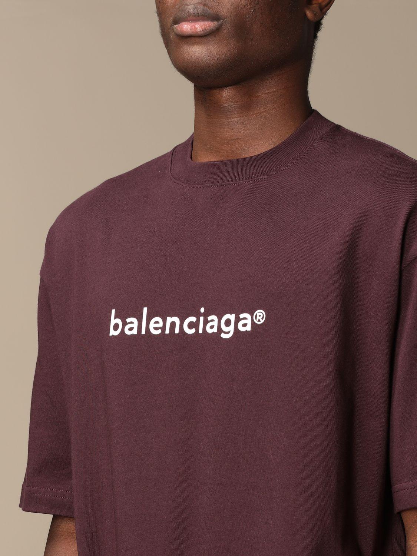 T-shirt Balenciaga: Balenciaga cotton t-shirt with logo violet 5