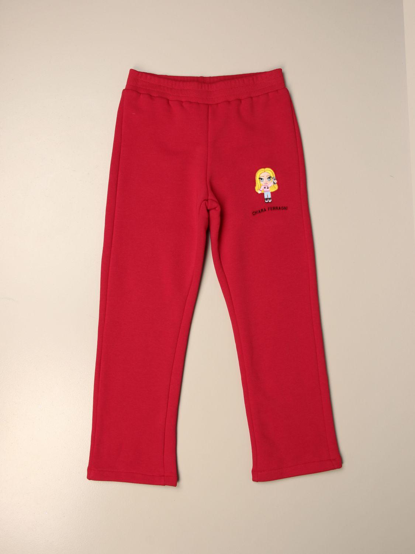Pantalón Chiara Ferragni: Pantalón niños Chiara Ferragni rojo 1