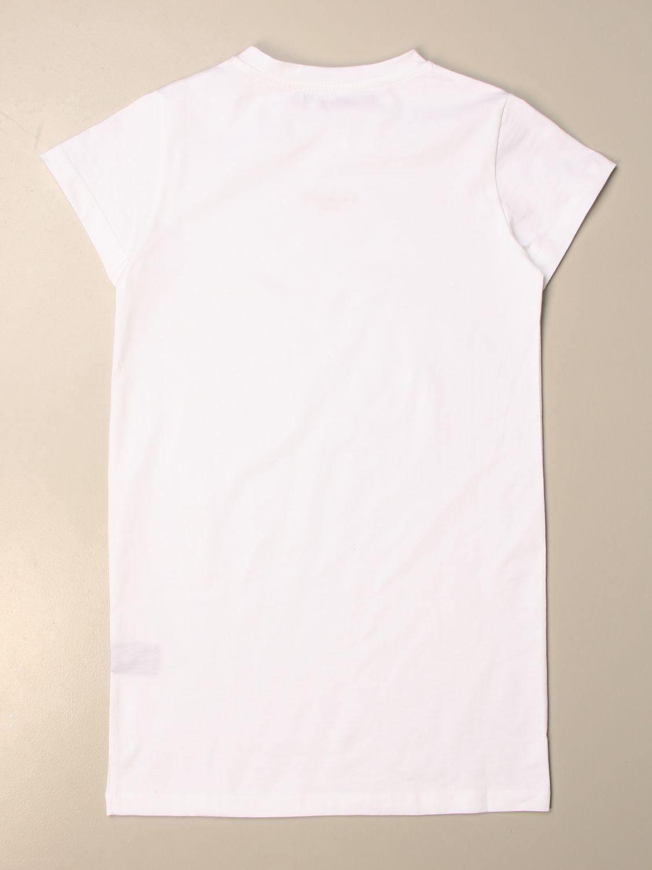 Vestido Balmain: Vestido niños Balmain blanco 2