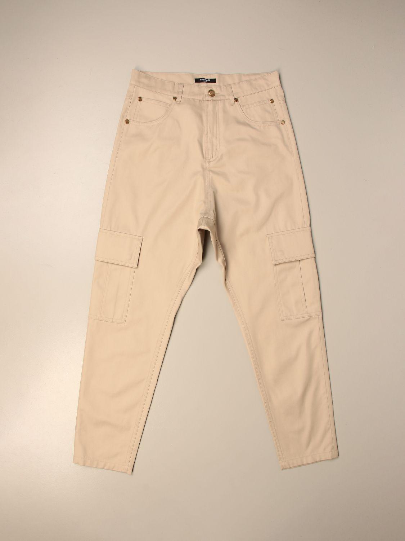 Pantalón Balmain: Pantalón niños Balmain beige 1