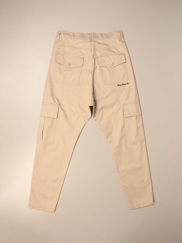 Pantalón Balmain: Pantalón niños Balmain beige 2