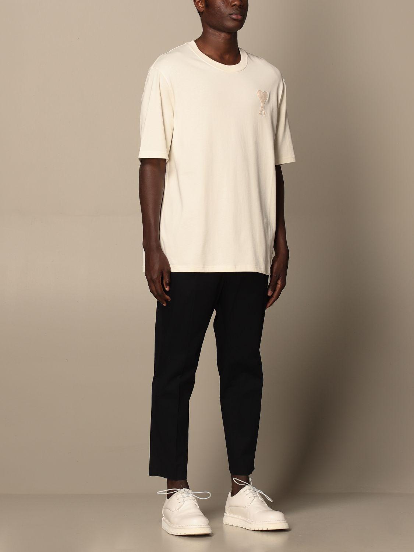 T-shirt Ami Alexandre Mattiussi: Ami Alexandre Mattiussi cotton t-shirt with logo white 2