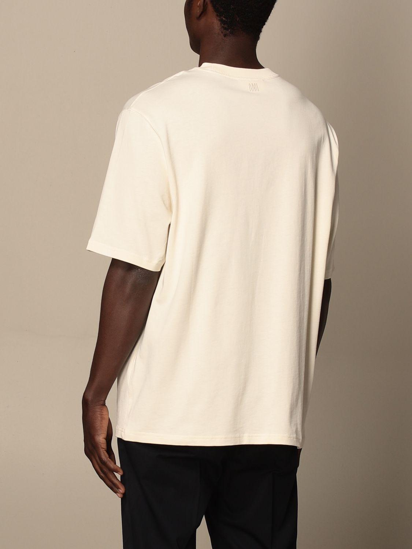 T-shirt Ami Alexandre Mattiussi: Ami Alexandre Mattiussi cotton t-shirt with logo white 3