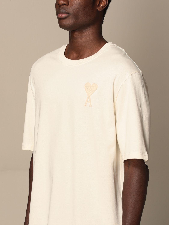 T-shirt Ami Alexandre Mattiussi: Ami Alexandre Mattiussi cotton t-shirt with logo white 4