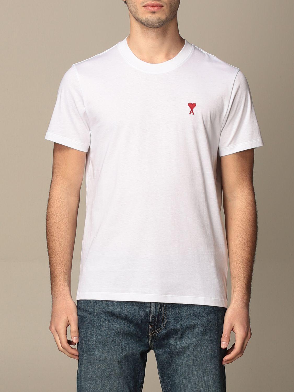 T-shirt Ami Alexandre Mattiussi: T-shirt men Ami Alexandre Mattiussi white 1
