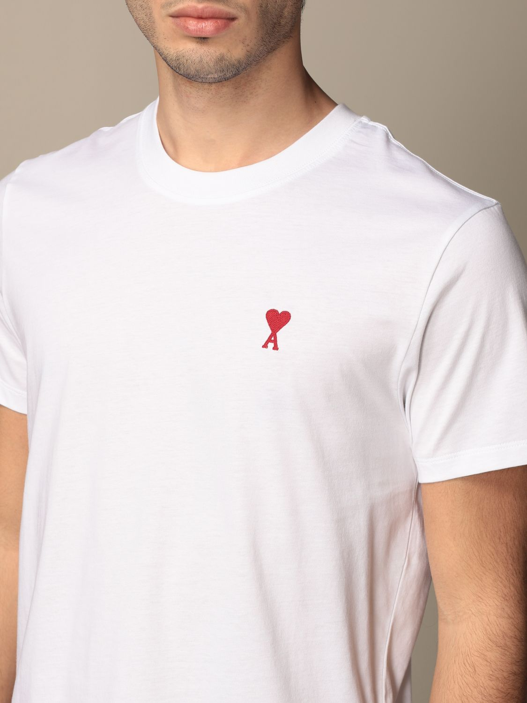 T-shirt Ami Alexandre Mattiussi: T-shirt men Ami Alexandre Mattiussi white 3