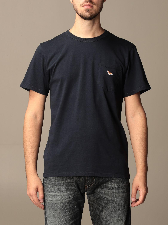 T-shirt Maison Kitsuné: T-shirt Maison Kitsuné in cotone con logo blue 1