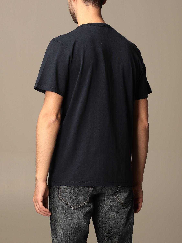 T-shirt Maison Kitsuné: T-shirt Maison Kitsuné in cotone con logo blue 2