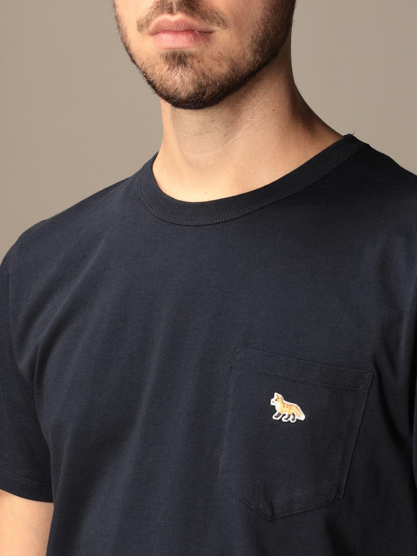 T-shirt Maison Kitsuné: T-shirt Maison Kitsuné in cotone con logo blue 3
