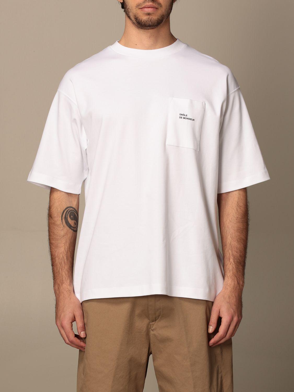 T-shirt Drole De Monsieur: T-shirt Drole De Monsieur con mini logo bianco 1