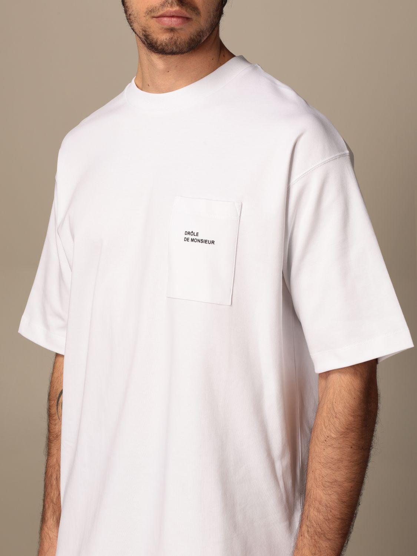 T-shirt Drole De Monsieur: T-shirt Drole De Monsieur con mini logo bianco 4