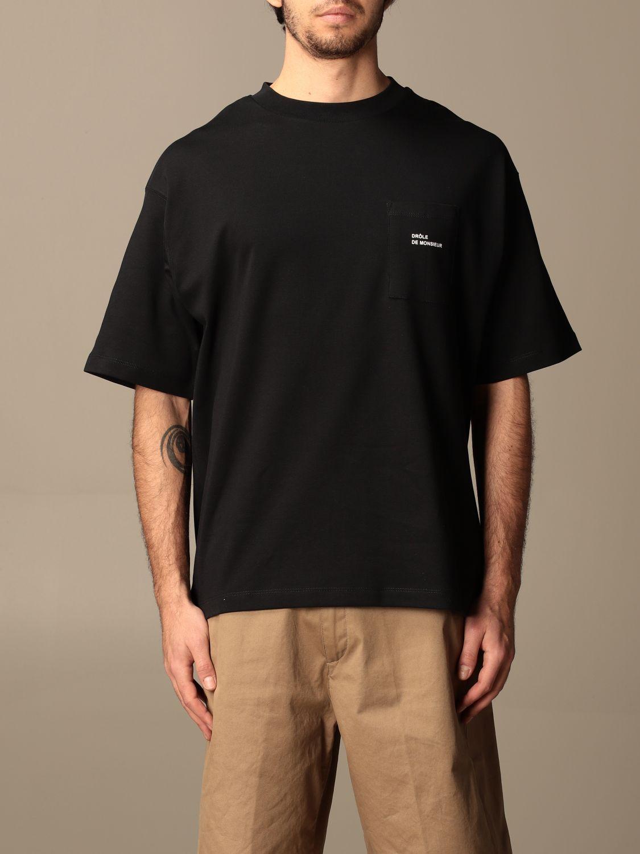 T-shirt Drole De Monsieur: T-shirt Drole De Monsieur con mini logo nero 1