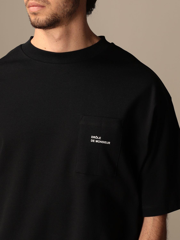 T-shirt Drole De Monsieur: T-shirt Drole De Monsieur con mini logo nero 4