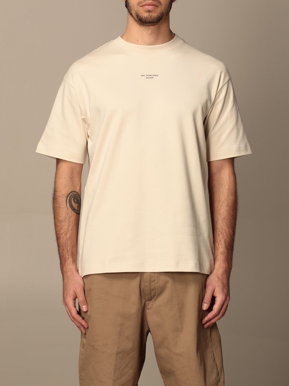 T-shirt Drole De Monsieur: T-shirt Drole De Monsieur con mini logo sabbia 1