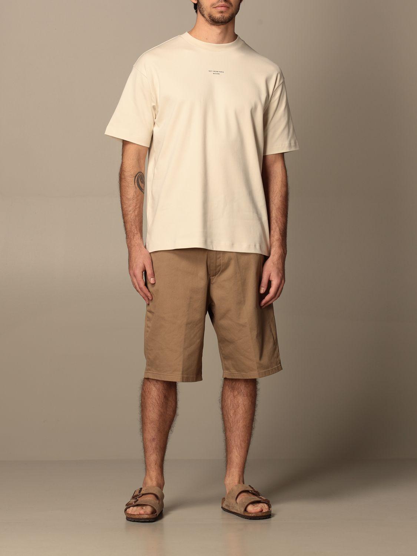 T-shirt Drole De Monsieur: T-shirt Drole De Monsieur con mini logo sabbia 2