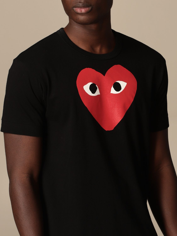 T-Shirt Comme Des Garçon Play: T-shirt herren Comme Des GarÇon Play schwarz 4