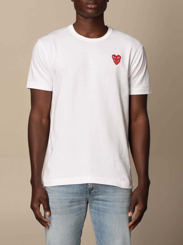 T-Shirt Comme Des Garçon Play: T-shirt herren Comme Des GarÇon Play weiß 1