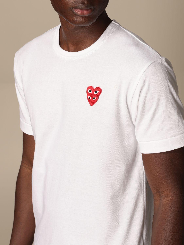 T-Shirt Comme Des Garçon Play: T-shirt herren Comme Des GarÇon Play weiß 4