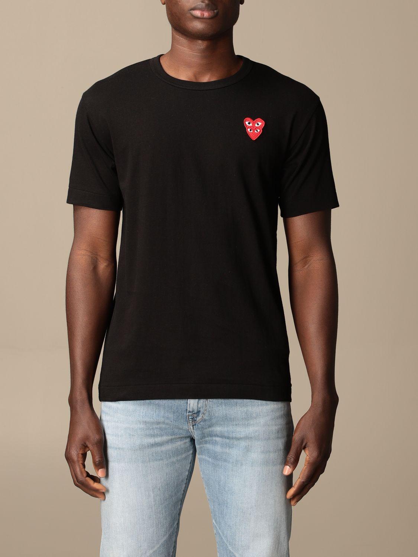 T-Shirt Comme Des Garçon Play: T-shirt herren Comme Des GarÇon Play schwarz 1