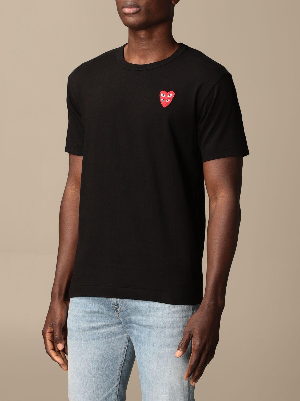 T-Shirt Comme Des Garçon Play: T-shirt herren Comme Des GarÇon Play schwarz 3