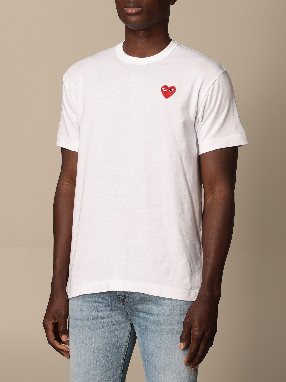 T-Shirt Comme Des Garçon Play: T-shirt herren Comme Des GarÇon Play weiß 3