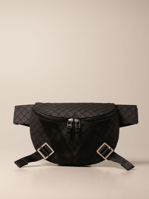 Shoulder bag Bottega Veneta: Bottega Veneta belt bag in woven-effect rubber black 1