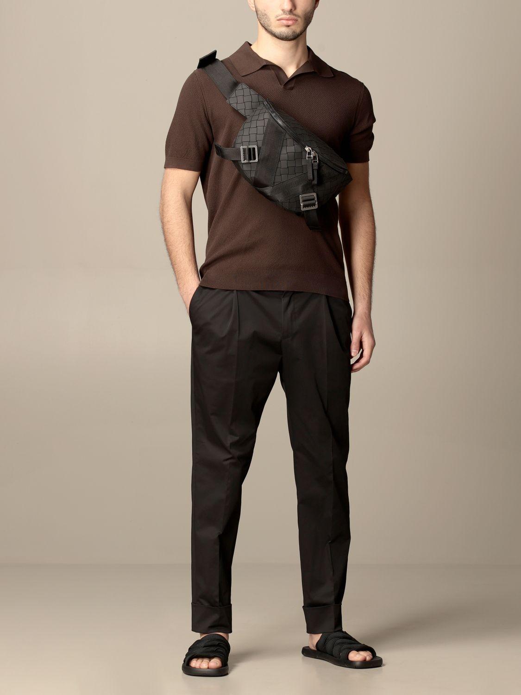 Shoulder bag Bottega Veneta: Bottega Veneta belt bag in woven-effect rubber black 2