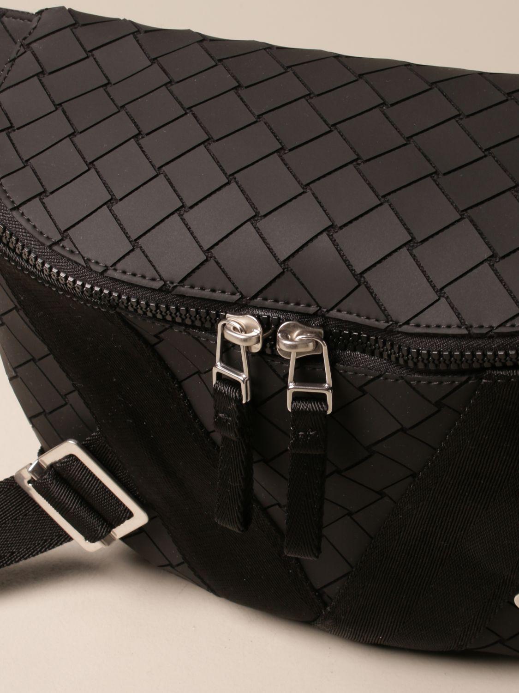 Shoulder bag Bottega Veneta: Bottega Veneta belt bag in woven-effect rubber black 4