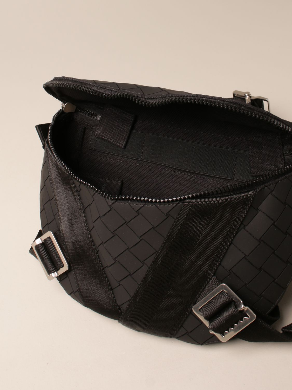 Shoulder bag Bottega Veneta: Bottega Veneta belt bag in woven-effect rubber black 5