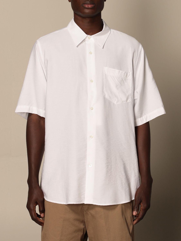 Shirt Ami Alexandre Mattiussi: Ami Alexandre Mattiussi viscose shirt white 1