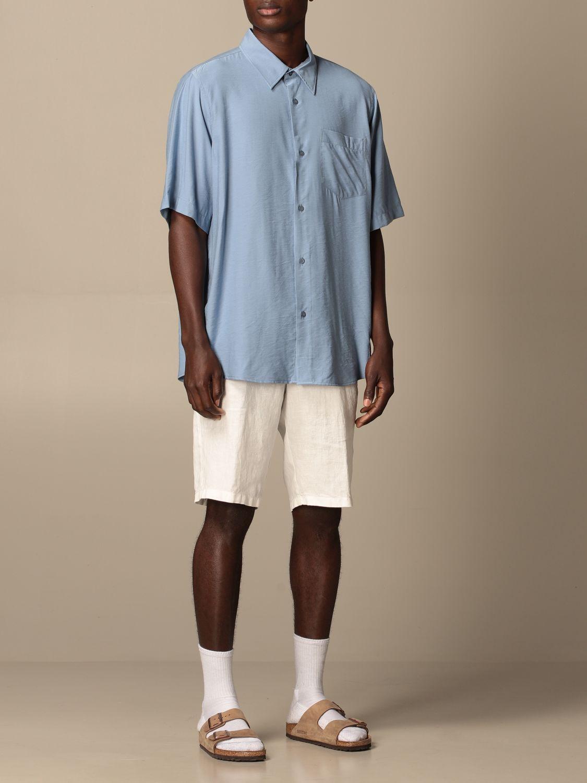 Shirt Ami Alexandre Mattiussi: Ami Alexandre Mattiussi viscose shirt blue 2