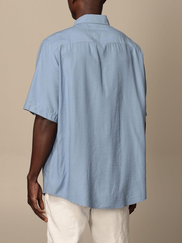 Shirt Ami Alexandre Mattiussi: Ami Alexandre Mattiussi viscose shirt blue 3