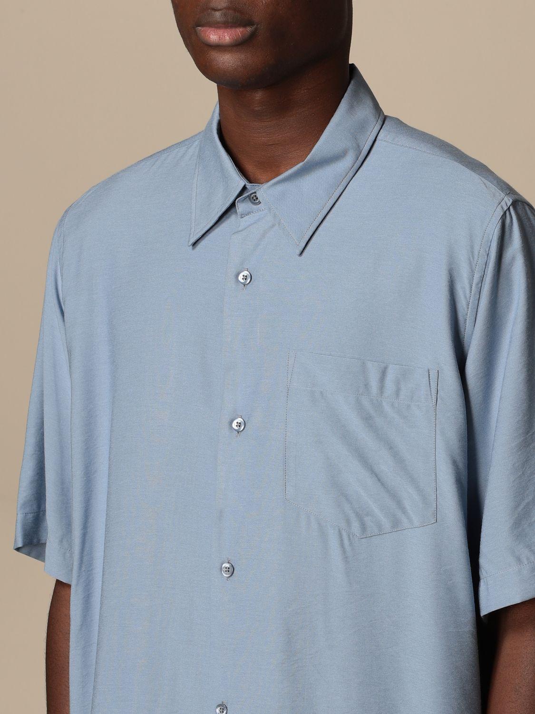 Shirt Ami Alexandre Mattiussi: Ami Alexandre Mattiussi viscose shirt blue 4