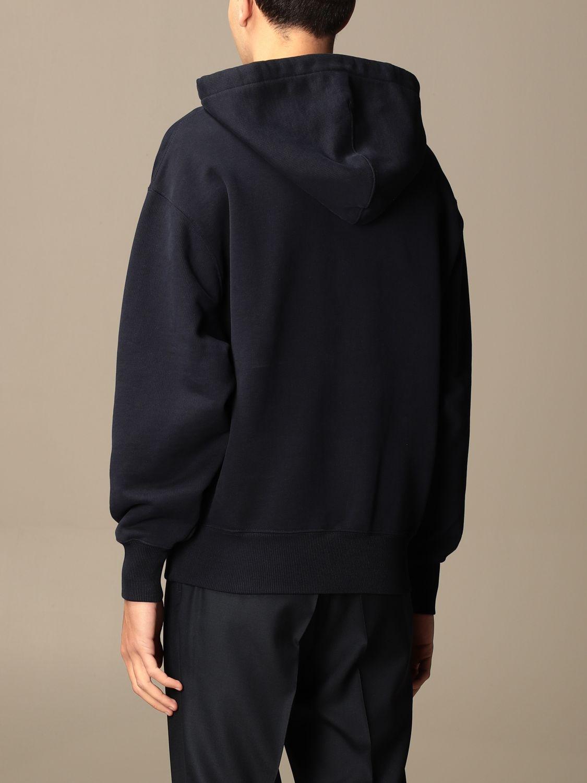 Sweatshirt Ami Alexandre Mattiussi: Ami Alexandre Mattiussi hooded sweatshirt with logo navy 3