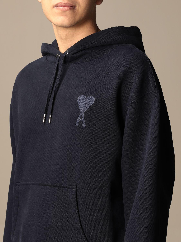 Sweatshirt Ami Alexandre Mattiussi: Ami Alexandre Mattiussi hooded sweatshirt with logo navy 4