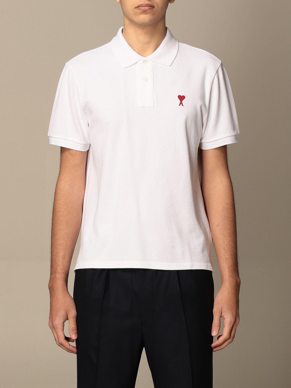 Polo shirt Ami Alexandre Mattiussi: Polo shirt men Ami Alexandre Mattiussi white 1