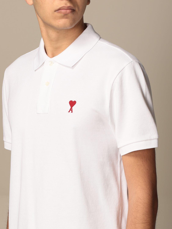 Polo shirt Ami Alexandre Mattiussi: Polo shirt men Ami Alexandre Mattiussi white 4