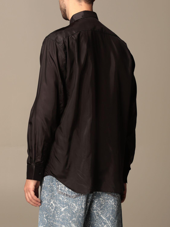 Camicia Comme Des Garçons Shirt: Camicia Comme Des Garçons Shirt effetto satin nero 2