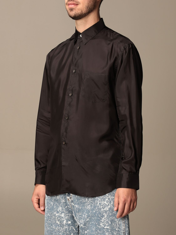 Camicia Comme Des Garçons Shirt: Camicia Comme Des Garçons Shirt effetto satin nero 3