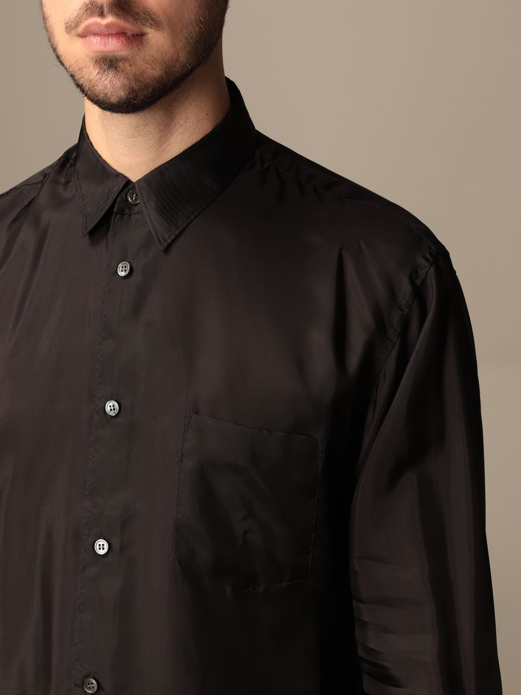 Camicia Comme Des Garçons Shirt: Camicia Comme Des Garçons Shirt effetto satin nero 4