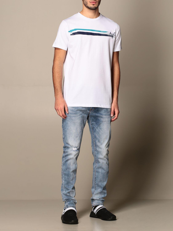 T-shirt Alessandro Dell'acqua: Alessandro Dell'acqua t-shirt in cotton with print white 2